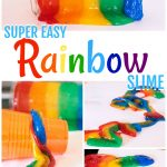 Super Easy Rainbow Slime Recipe