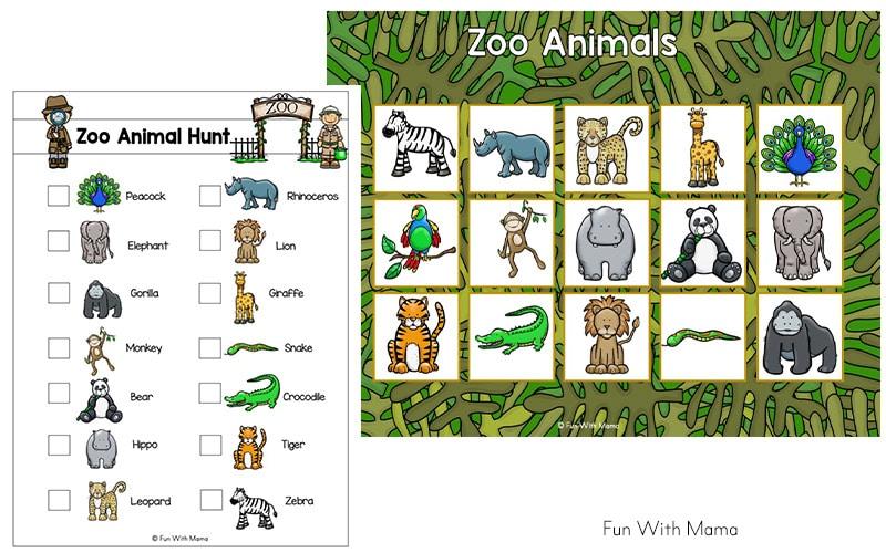 Zoo Animal Activities For Preschoolers + Kindergarteners - Fun With Mama