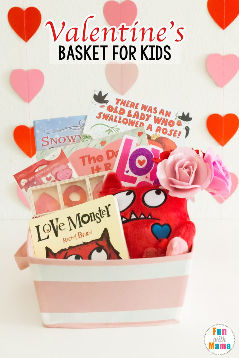 Valentines Basket - Valentine\'s Gifts For Kids - Fun with Mama