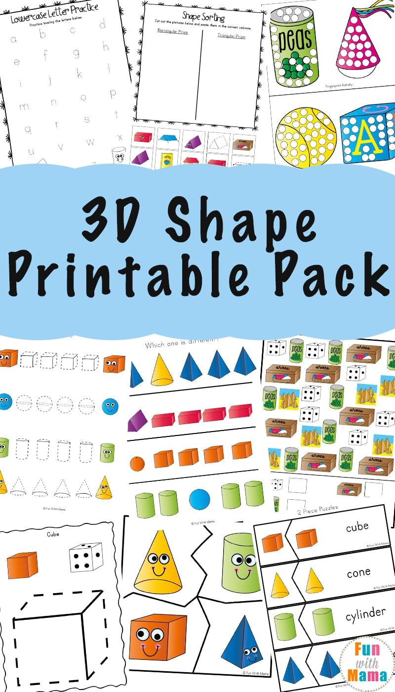3d Shape Worksheets Fun With Mama