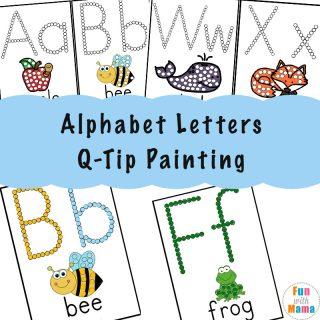 Alphabet Printables Q-Tip Painting