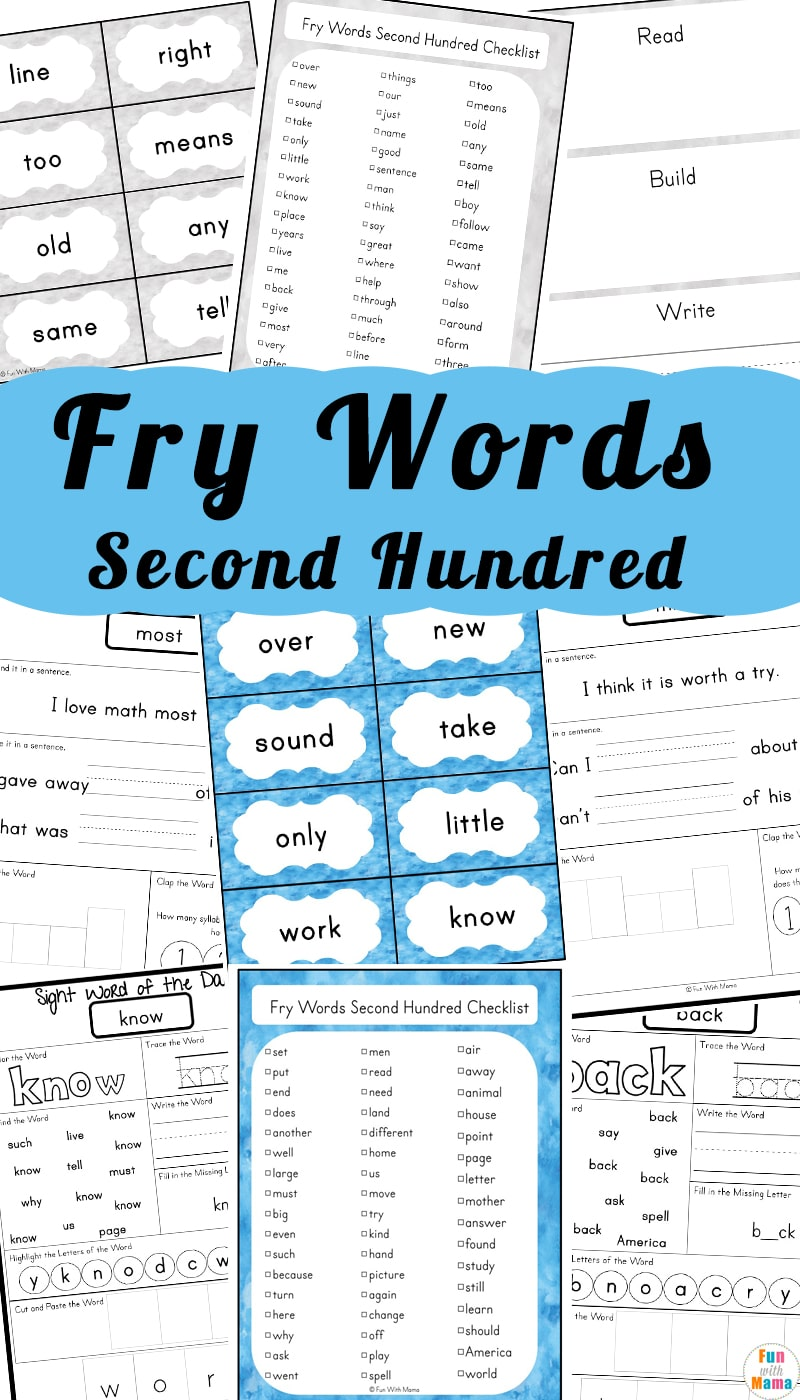 Fry 100 Sight Words Second Hundred Fun With Mama