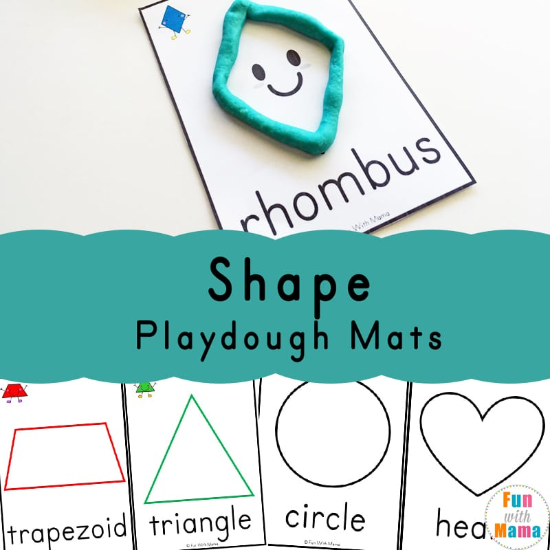 Shapes Playdough Mats Fun With Mama