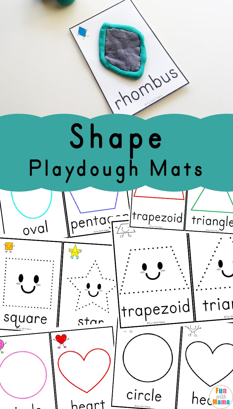 Shapes Playdough Mats - Fun with Mama
