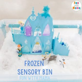 Frozen Castle Elsa and Anna Toys Review + Snow Sensory Bin