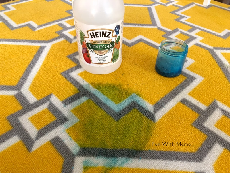 how to get wet slime out of carpet