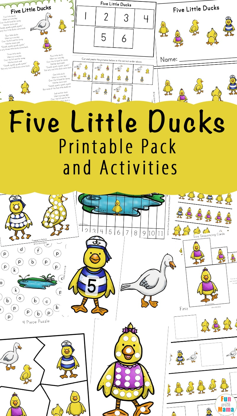 A fun bundle of Five Little Ducks counting activities. This is perfect for kids who are just learning to count or may need a little extra practice. With a fun theme and engaging activities, kids will enjoy every single page!