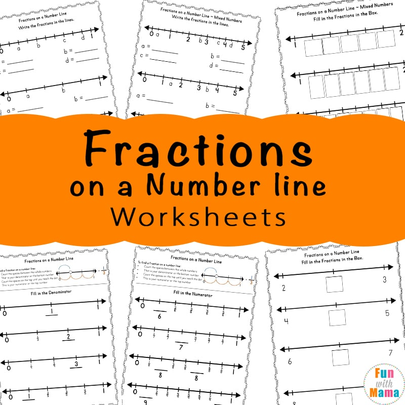 Fractions On A Number Line Worksheets - Fun With Mama