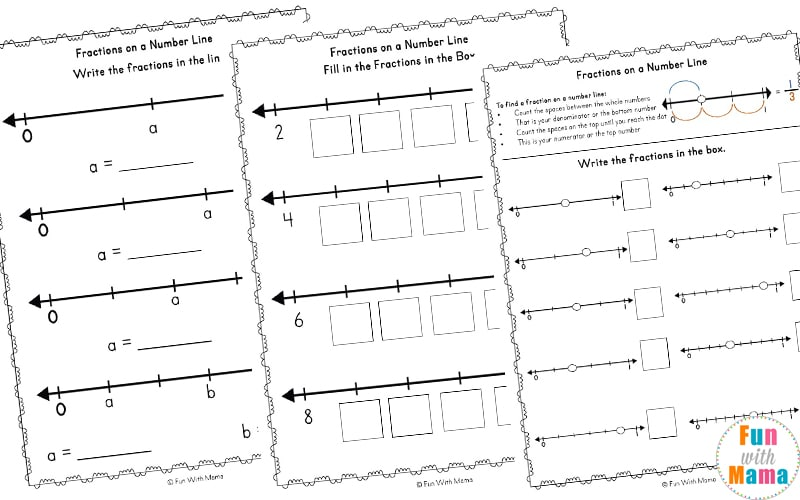 Fractions On A Number Line Worksheets Fun With Mama. Fractions On A Number Line Worksheets. Worksheet. Fractions On A Number Line Worksheet At Mspartners.co