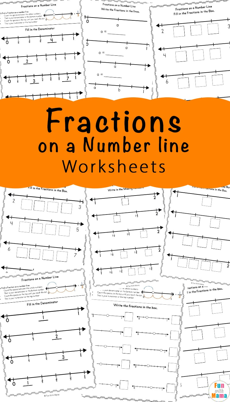 Fractions On A Number Line Worksheets Fun With Mama