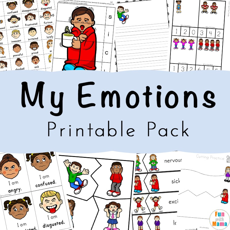 Feelings Activities Emotions Worksheets For Kids Fun With Mama