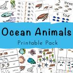 Under the Sea Animals + Ocean Animals Theme Activities Pack