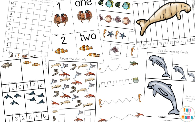 A Super Fun Ocean Animals Printable Pack For Kids