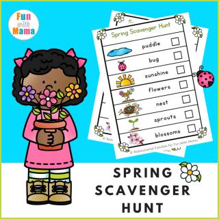 Spring Scavenger Hunt For Kids