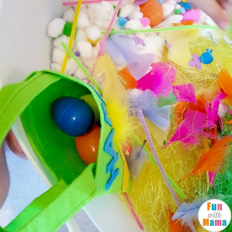 easter sensory bin how we played 5a