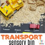 Transportation Theme Sensory Table