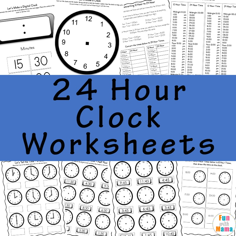Telling Time Worksheets. Check Out All Of Our Printable Activities Packs For Kids. Worksheet. 24 Hour Clock Worksheet Year 6 At Clickcart.co