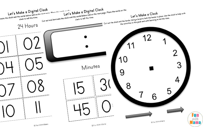 12 hour clock worksheets