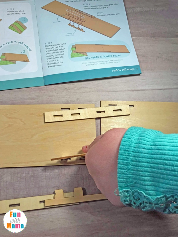 Kiwi Crate Review: Rock N Roll Ramps. A fun subscription box for kids all about STEM. Excellent for Kindergarteners on up.