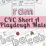 CVC Short A Playdough Mats