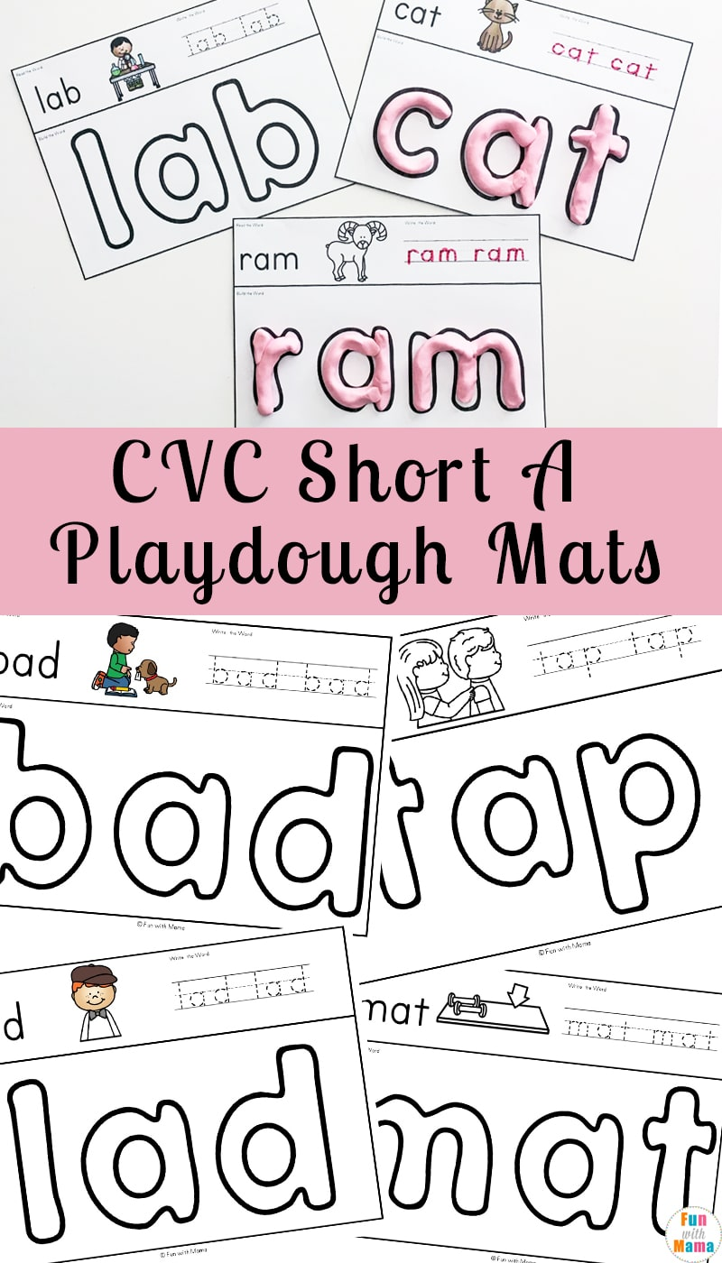 Learning CVC words can be complicated and sometimes downright boring for some kids. Try using these engaging CVC Short A Playdough Mats to encourage your kids to learn!
