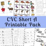 Short A Worksheets CVC Words