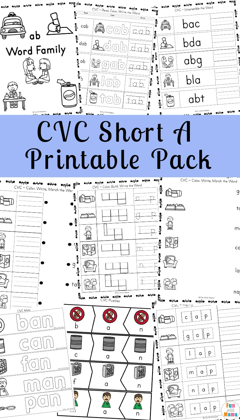 It is a graphic of Free Printable Short Vowel Worksheets regarding preschool