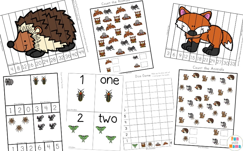 Image of: Sorting There Is Also Nocturnal Animals Book That They Can Create Use For Reading And Spelling Practice And Then Color In All Of The Pictures Fun With Mama Nocturnal Animals For Kids Fun With Mama