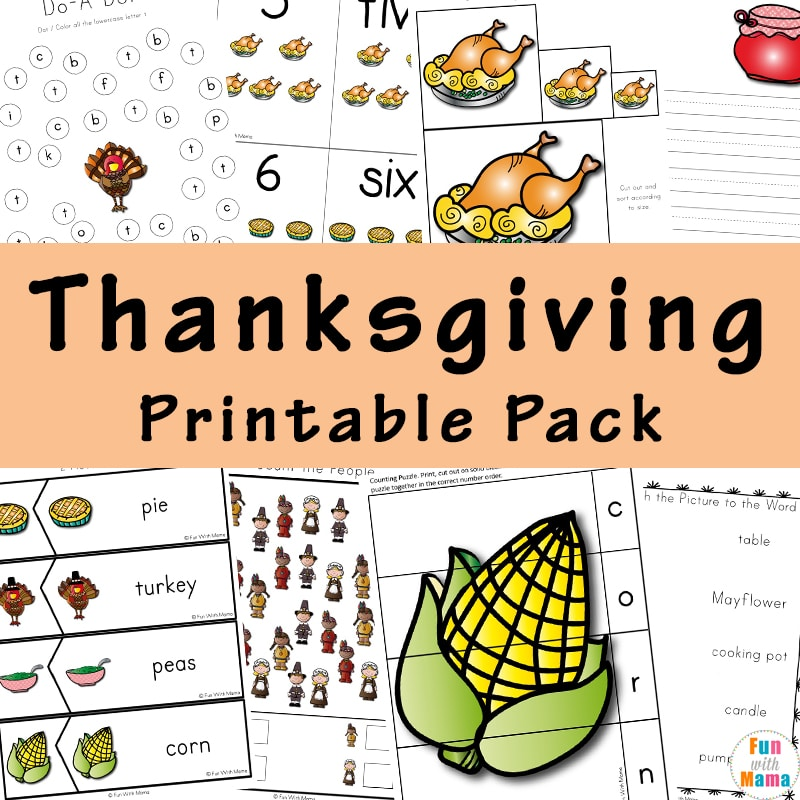 A Thanksgiving Printable Pack For Learning History & More!