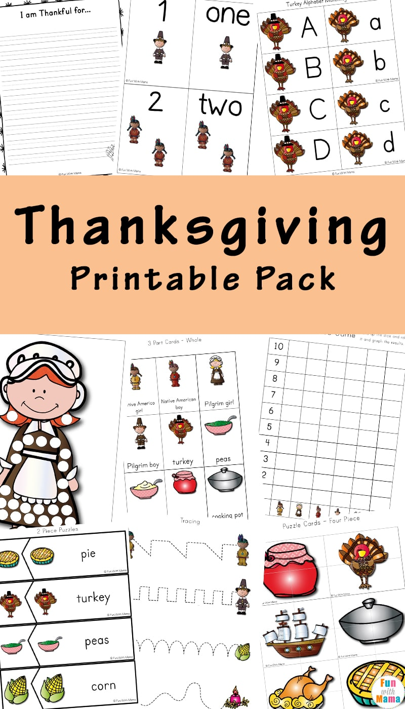 This fabulous printable Thanksgiving set will help you teach the history of Thanksgiving as well as other topics as well.