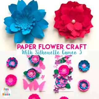 Silhouette Cameo 3 – Paper Flower Craft For Kids