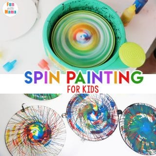 Action Art Spin Painting For Kids