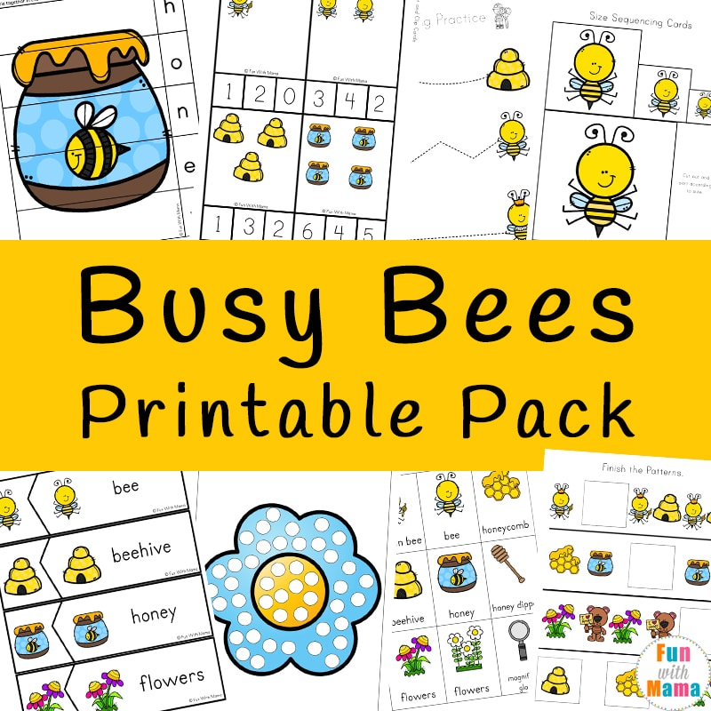 Honeypot Preschool: Bumble Bees Activities