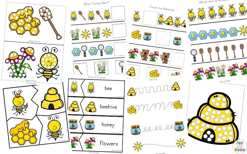 Bumble Bees Activities - Fun with Mama