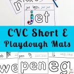 Short E Sound Playdough Mats