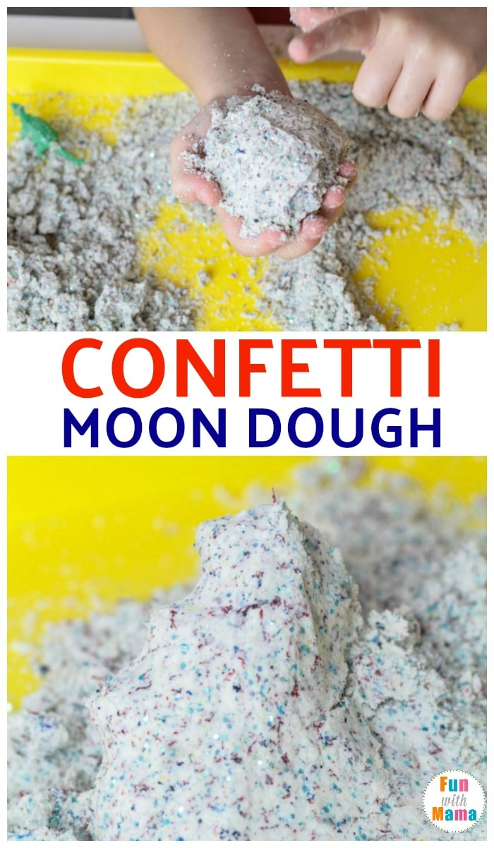 confetti moon dough