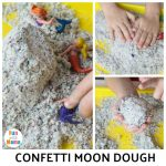 Easy Confetti Moon Dough Recipe Perfect for Sensory Play