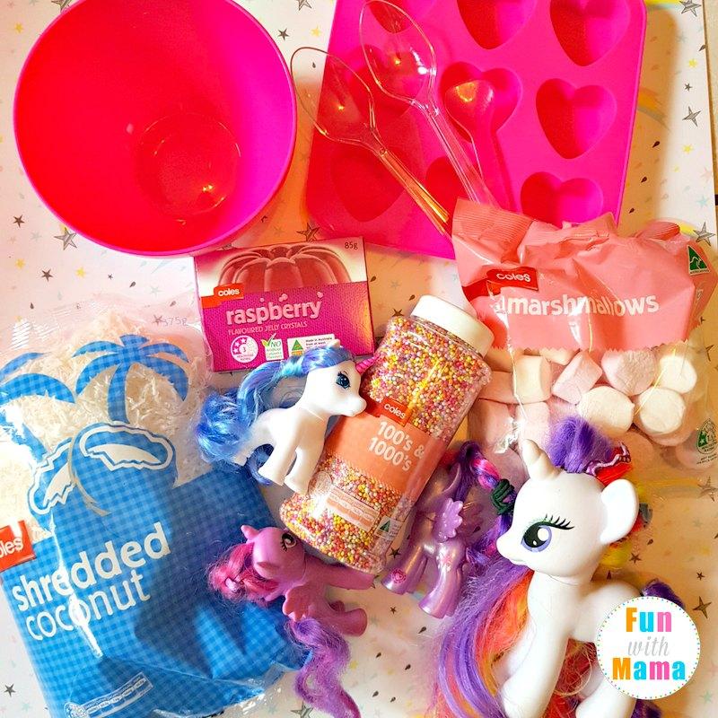 Unicorn sensory bin what you need