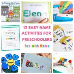 12 Hands On Name Activities For Preschooolers