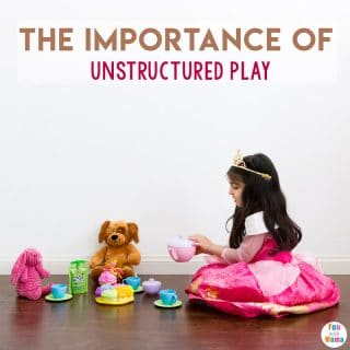 Importance of Unstructured Play -FREE play time is endangered