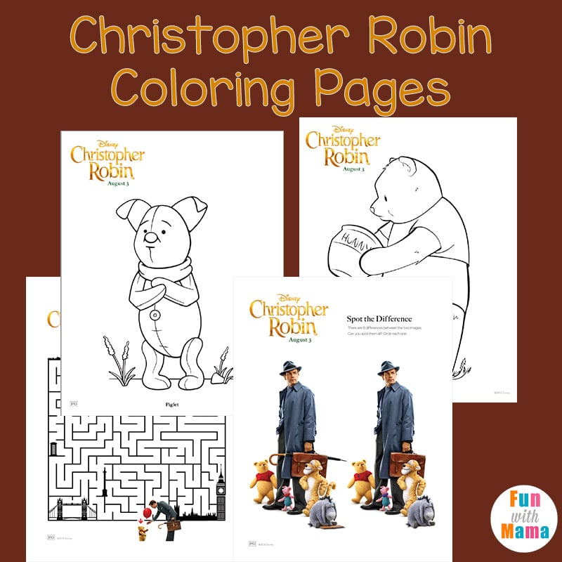 Christopher Robin Coloring Pages Fun With Mama