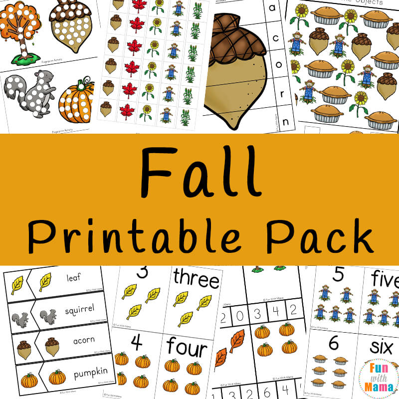 Fall Theme Activities For Kids - Fun With Mama