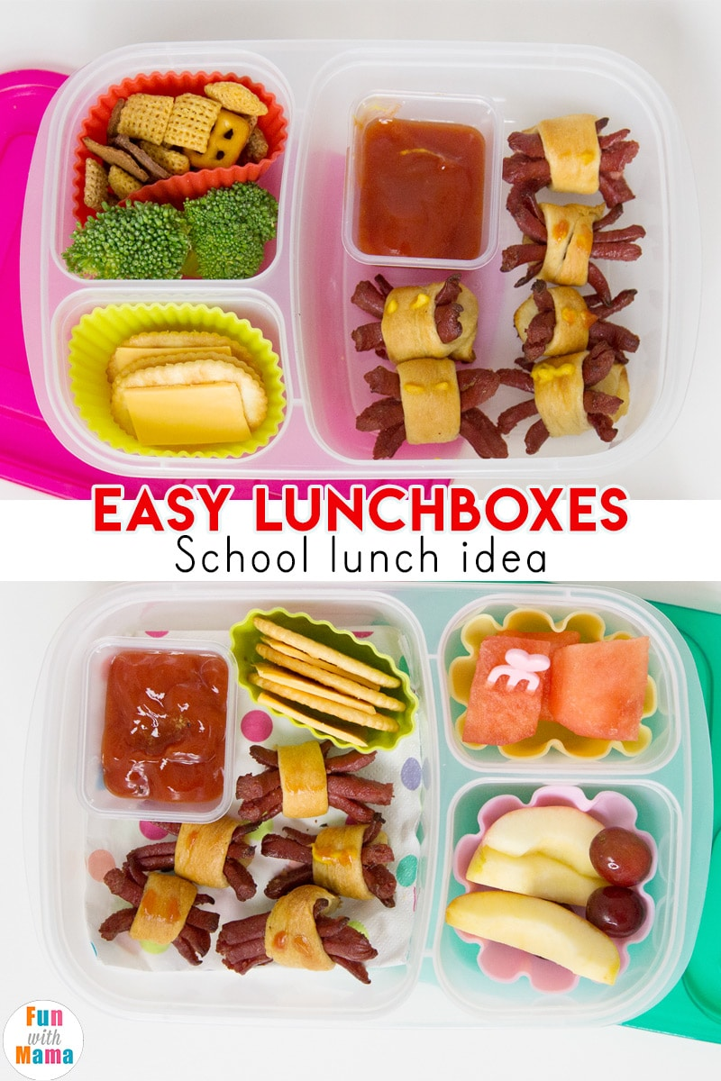 Halloween school lunch ideas with easy lunchboxes
