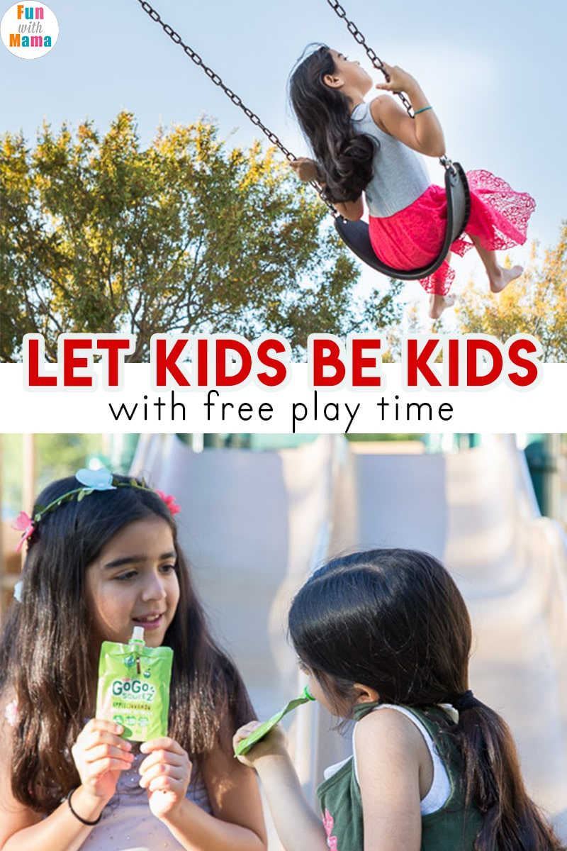 Free play time is important to a child's wellbeing. Let kids be kids with unstructured playtime #betime #ad