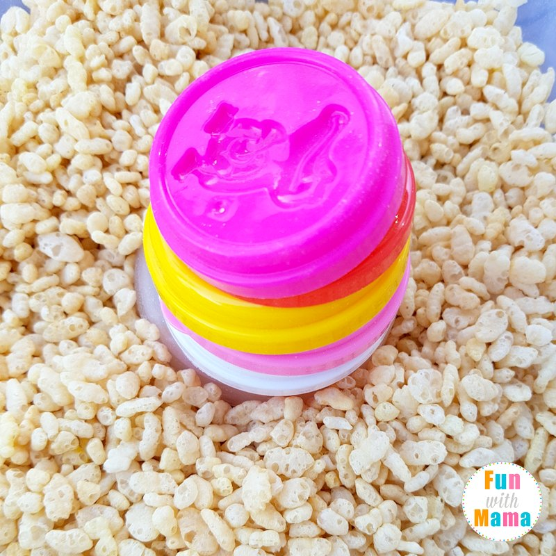 stacking lids shapes sensory bin