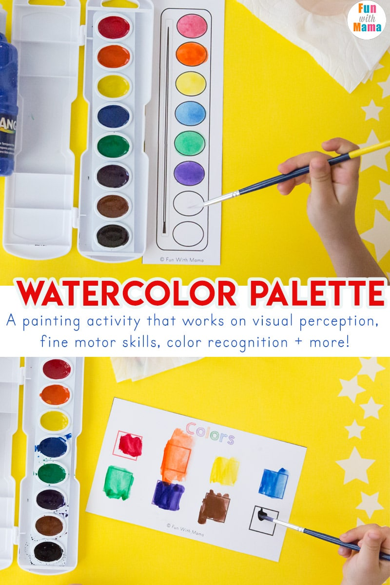 watercolor painting activity for toddlers