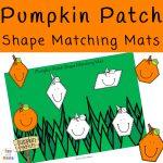 Pumpkin Patch Shape Matching Mats