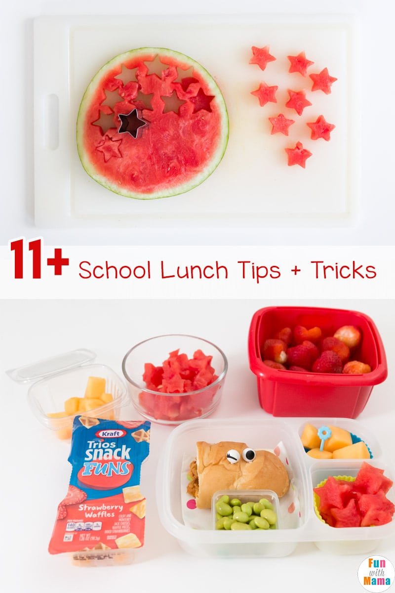 These school lunch tips tricks and hacks are exactly what a busy mom needs to make the whole school lunch prep easier. #schoollunch #schoollunchideas #schoollunchtips #bento #bentobox #school #lunch #healthylunch