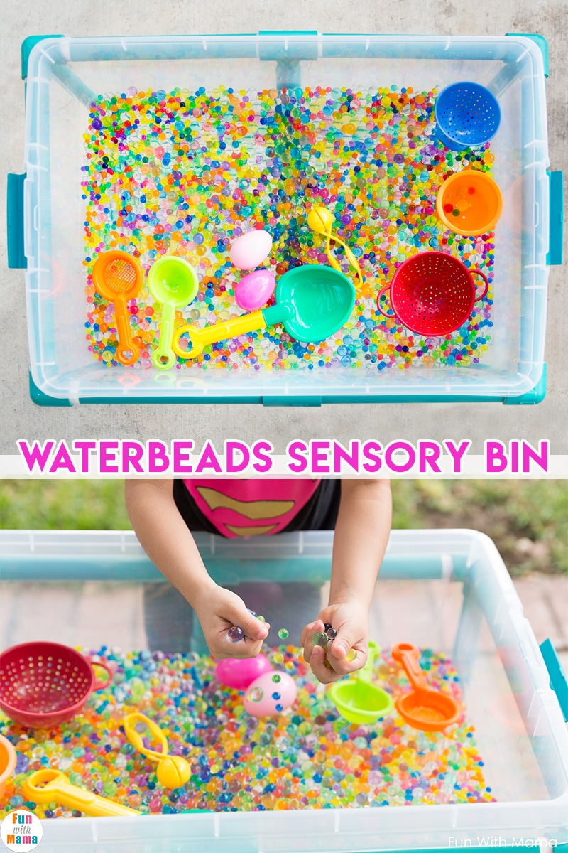 Water Beads Fun Sensory Bin Fun With Mama