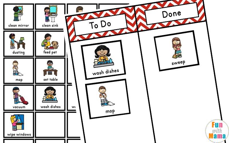 kids chore chart